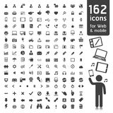 162 Icons for Web. Stock Image