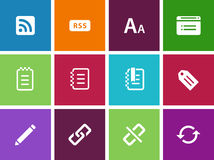 Icons for web Royalty Free Stock Photo