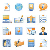 Icons for web blue orange series 4. Vector icons set for websites, guides, booklets Stock Photo