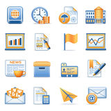 Icons for web blue orange series 5 Stock Photography