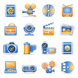 Icons for web blue orange series 8 Royalty Free Stock Image