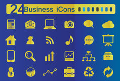 ICons. 24 web icons for business Royalty Free Stock Photo