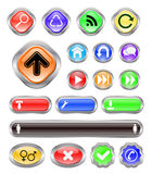 Icons. Web buttons with icon set Royalty Free Stock Photography