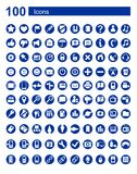100 icons Web  communications Royalty Free Stock Image