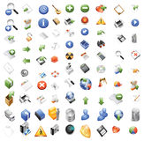 Icons for web computer applications Stock Photography