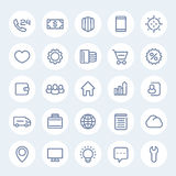 Icons for web design in linear style Stock Photos