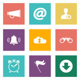 Icons for Web Design Royalty Free Stock Photo