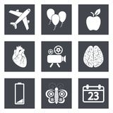Icons for Web Design and Mobile Applications set 2 Stock Image