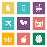 Icons for Web Design and Mobile Applications set 2 Royalty Free Stock Photography