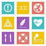 Icons for Web Design and Mobile Applications set 9 Stock Photo