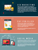Icons for web design, seo, social media Royalty Free Stock Image
