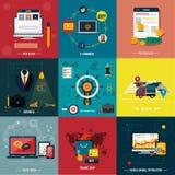 Icons for web design, seo, social media Stock Image