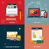 Icons for web design, seo, social media Royalty Free Stock Images