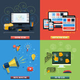 Icons for web design, seo, social media Royalty Free Stock Photography