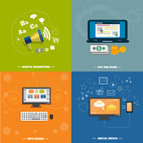 Icons for web design, seo, social media Stock Photos