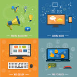 Icons for web design, seo, social media Stock Photography
