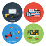 Icons for web design, seo, social media Stock Images