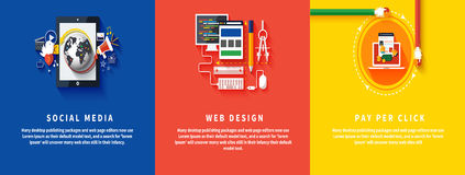 Icons for web design, seo, social media Royalty Free Stock Photos