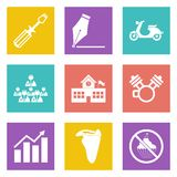Icons for Web Design set 12 Royalty Free Stock Photo