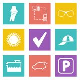 Icons for Web Design set 13 Royalty Free Stock Image