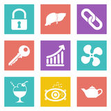 Icons for Web Design set 20. Color icons for Web Design and Mobile Applications set 20. Vector illustration Vector Illustration