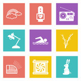 Icons for Web Design set 25 Royalty Free Stock Photography