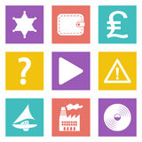 Icons for Web Design set 24. Color icons for Web Design and Mobile Applications set 24. Vector illustration Stock Image