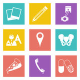 Icons for Web Design set 23 Royalty Free Stock Photo
