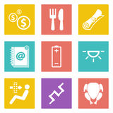 Icons for Web Design set 16. Color icons for Web Design and Mobile Applications set 16. Vector illustration Royalty Free Stock Photo