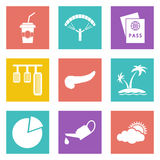 Icons for Web Design set 22. Color icons for Web Design and Mobile Applications set 22. Vector illustration Stock Photos