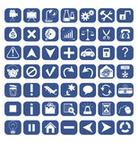49 icons for web design Royalty Free Stock Photos