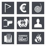 Icons for Web Design set 18 Royalty Free Stock Photo