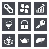 Icons for Web Design set 20 Royalty Free Stock Photo