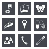 Icons for Web Design set 23 Royalty Free Stock Images