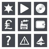 Icons for Web Design set 24. Icons for Web Design and Mobile Applications set 24. Vector illustration Stock Photography