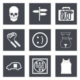 Icons for Web Design set 28 Royalty Free Stock Photos