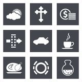 Icons for Web Design set 31 royalty free illustration