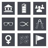 Icons for Web Design set 33 Stock Photo