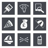 Icons for Web Design set 37 Royalty Free Stock Image