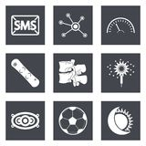 Icons for Web Design set 40. Icons for Web Design and Mobile Applications set 40. Vector illustration Stock Photo