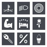Icons for Web Design set 34 Stock Photography