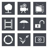 Icons for Web Design set 44 Stock Photo