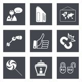 Icons for Web Design set 35 Royalty Free Stock Photo