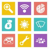 Icons for Web Design set 46 Stock Photos