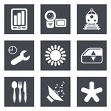Icons for Web Design set 50 Stock Photography