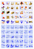Icons for web design shops Stock Photo