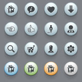 Icons for web on gray background. Royalty Free Stock Image