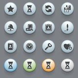 Icons for web on gray background. Set 3. Royalty Free Stock Images