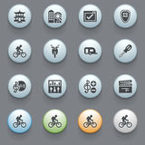 Icons for web on gray background. Set 4. Stock Photo