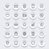 Icons for web, 25 linear pictograms set. Vector illustration Royalty Free Stock Photos